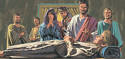 Jesus and others went to see the girl