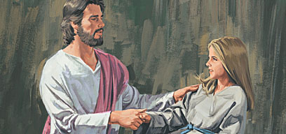 He healed her.