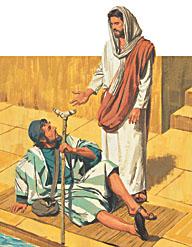 A crippled man