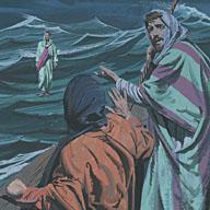 The disciples were afraid