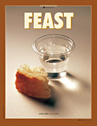 piece of bread and sacrament cup