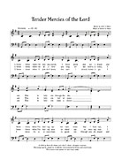 music, Tender Mercies of the Lord, page 1