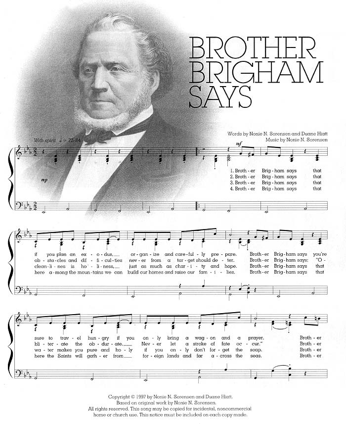 Music, Brother Brigham Says