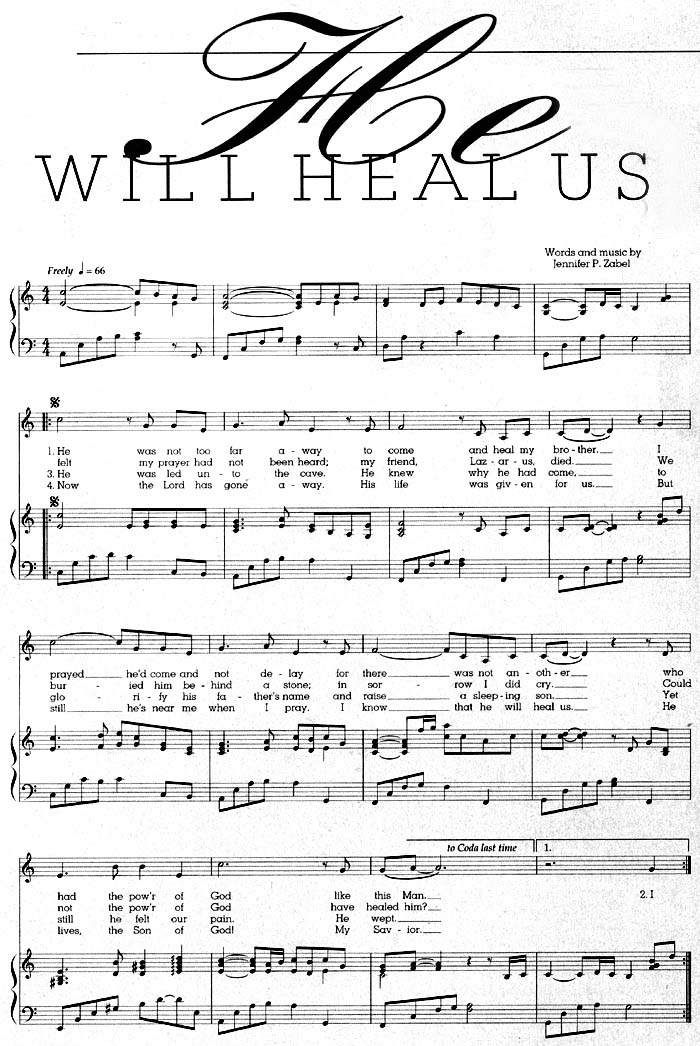 Music, He Will Heal Us