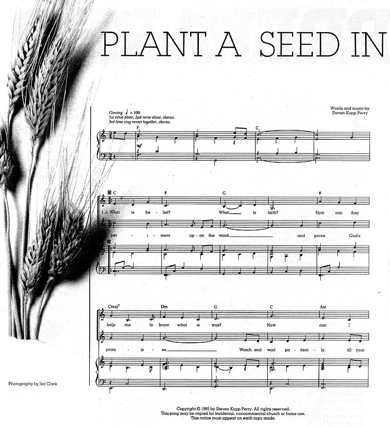 Music, Plant a Seed in Your Heart