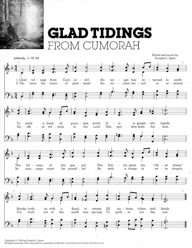 Music, Glad Tidings from Cumorah