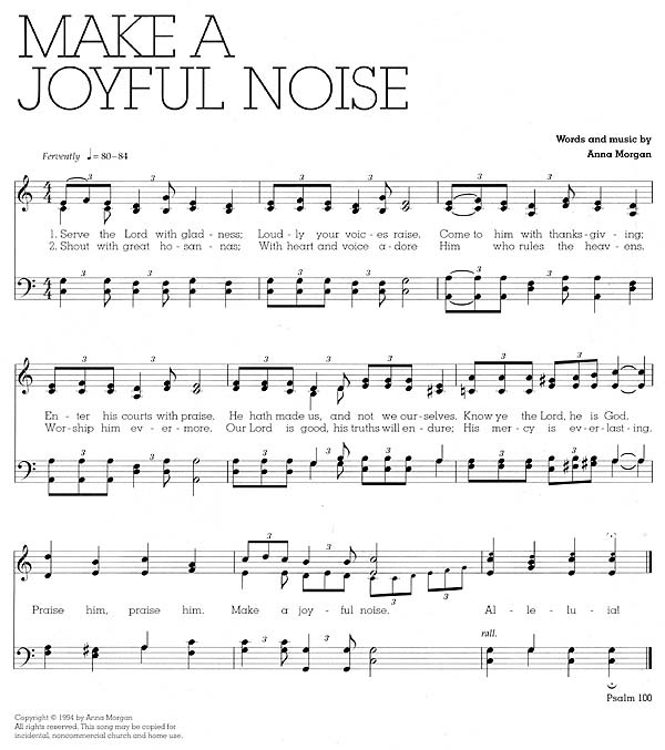 Music, Make a Joyful Noise