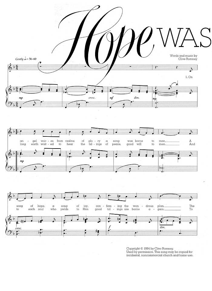 Music, Hope Was Born