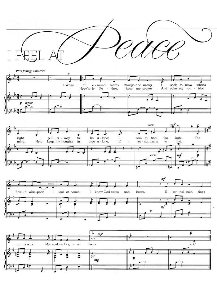 Music, I Feel at Peace