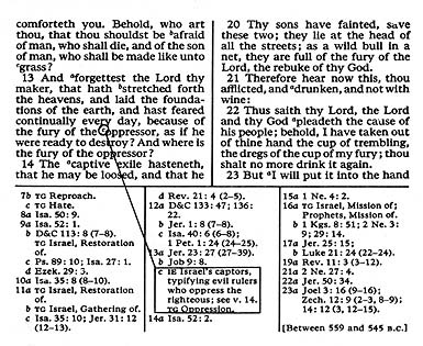 a page from the scriptures