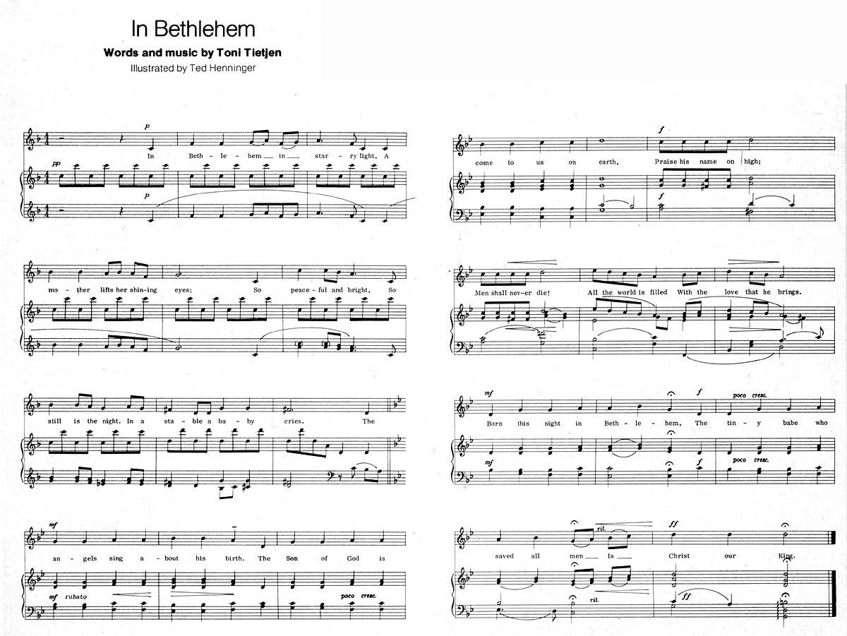 Music, In Bethlehem