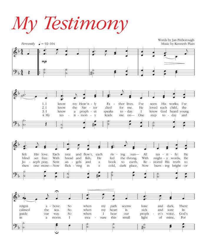 Music, My Testimony