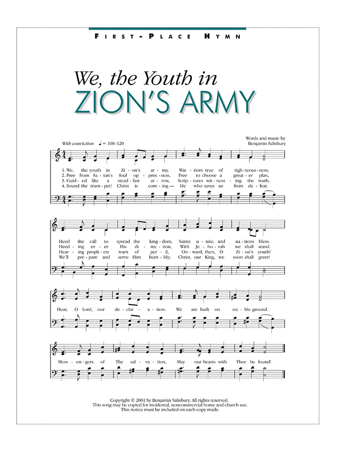 Music, We, the Youth in Zion's Army