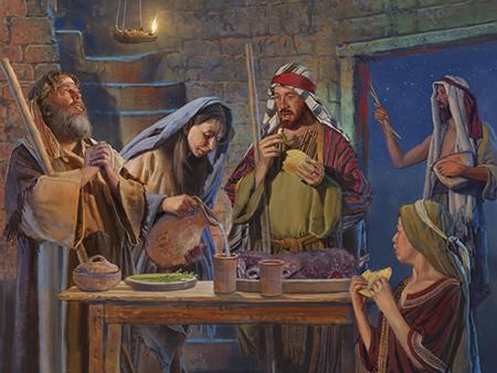 LUB NTSIAB NTAWM TXOJ KEV NTSEEG KAS TOS LIV Passover-supper_1238799_inl