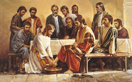 Chirst washing the disciples feet
