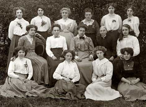 group of English women