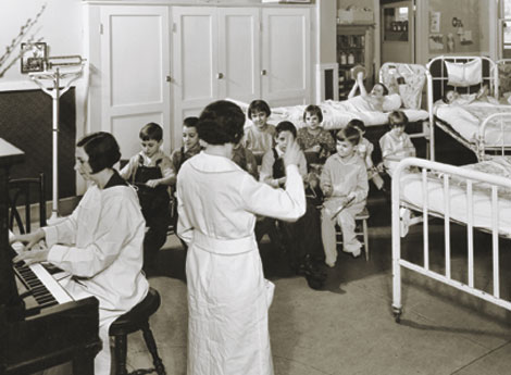 nurses and children at LDS Hospital