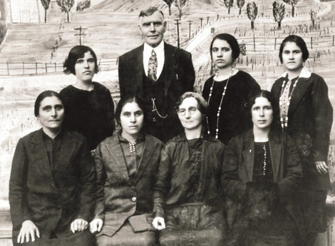 Joseph Booth and Relief Society sisters from Armenia