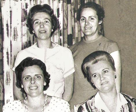 Sister Bangerter and Brazilian sisters