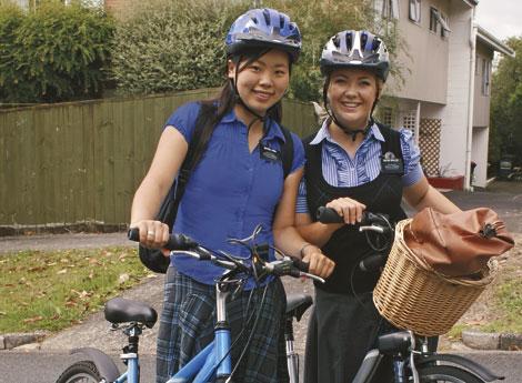 sister missionaries on bikes