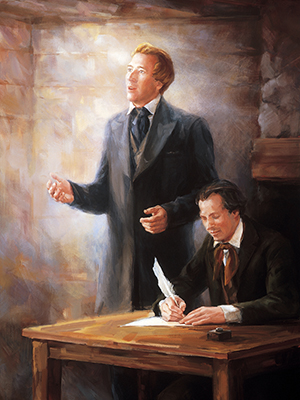 Joseph Smith and scribe