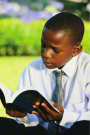 young man reading scripture