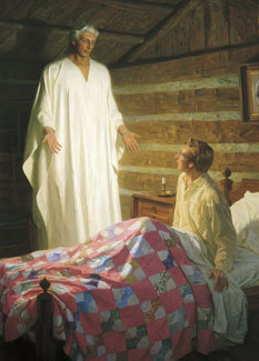 Moroni Appears to Joseph Smith in His Room