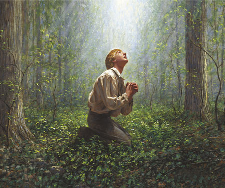 Joseph Smith in Sacred Grove