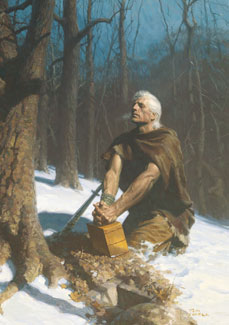 Moroni Hides the Plates in the Hill Cumorah