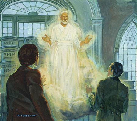 Elijah Restoring the Keys of the Sealing Power of the Priesthood
