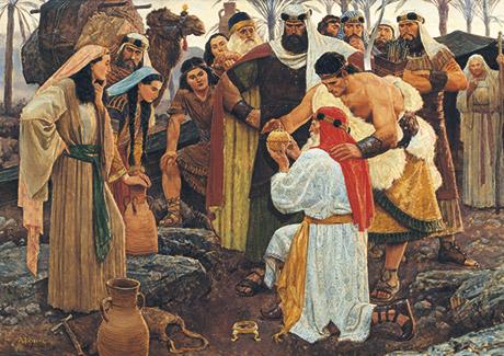Zur Zeit des Propheten Jeremia: Lehis Familie entdeckt den Liahona.