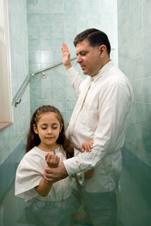 The baptism of a girl