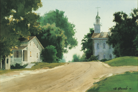 Landscape with Kirtland Temple