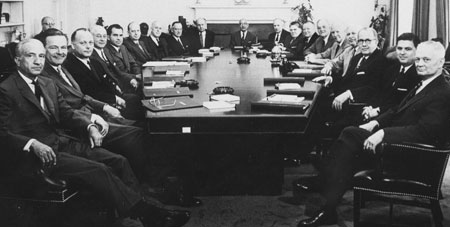 Eisenhower cabinet meeting