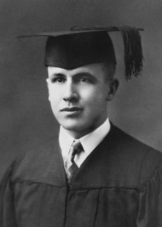 Ezra Taft Benson in cap and gown