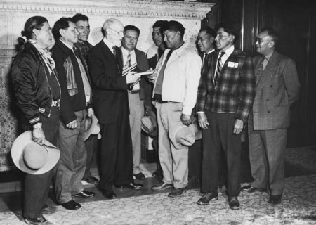 President Smith with Navajos