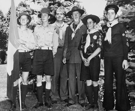 President Smith with Boy Scouts