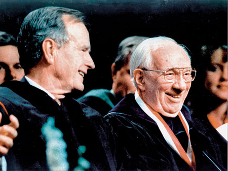 President Hinckley and President George H. W. Bush