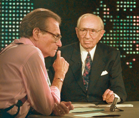 President Hinckley and Larry King