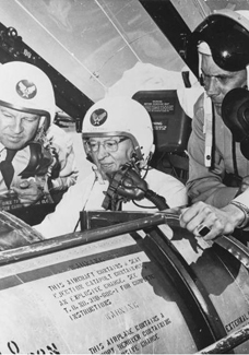 President Smith in cockpit