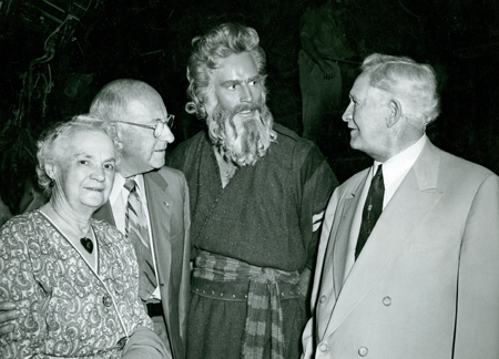 President McKay with Cecil B. DeMille and Charlton Heston