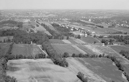 aerial view of Smith farm