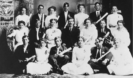 Spencer W. Kimball with classmates