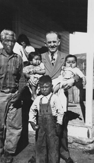 Elder Kimball with Native American family