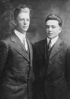 Harold B. Lee and another student
