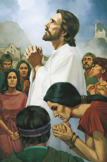 Jesus Praying with the Nephites