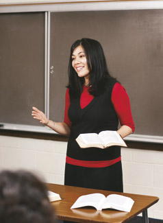 woman teaching
