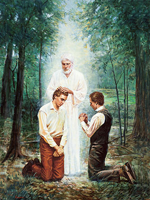 John the Baptist Conferring the Aaronic Priesthood