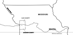 map, Missouri