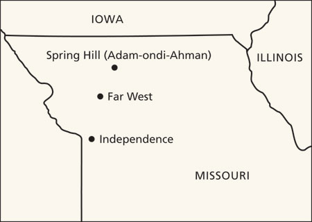 map, western Missouri